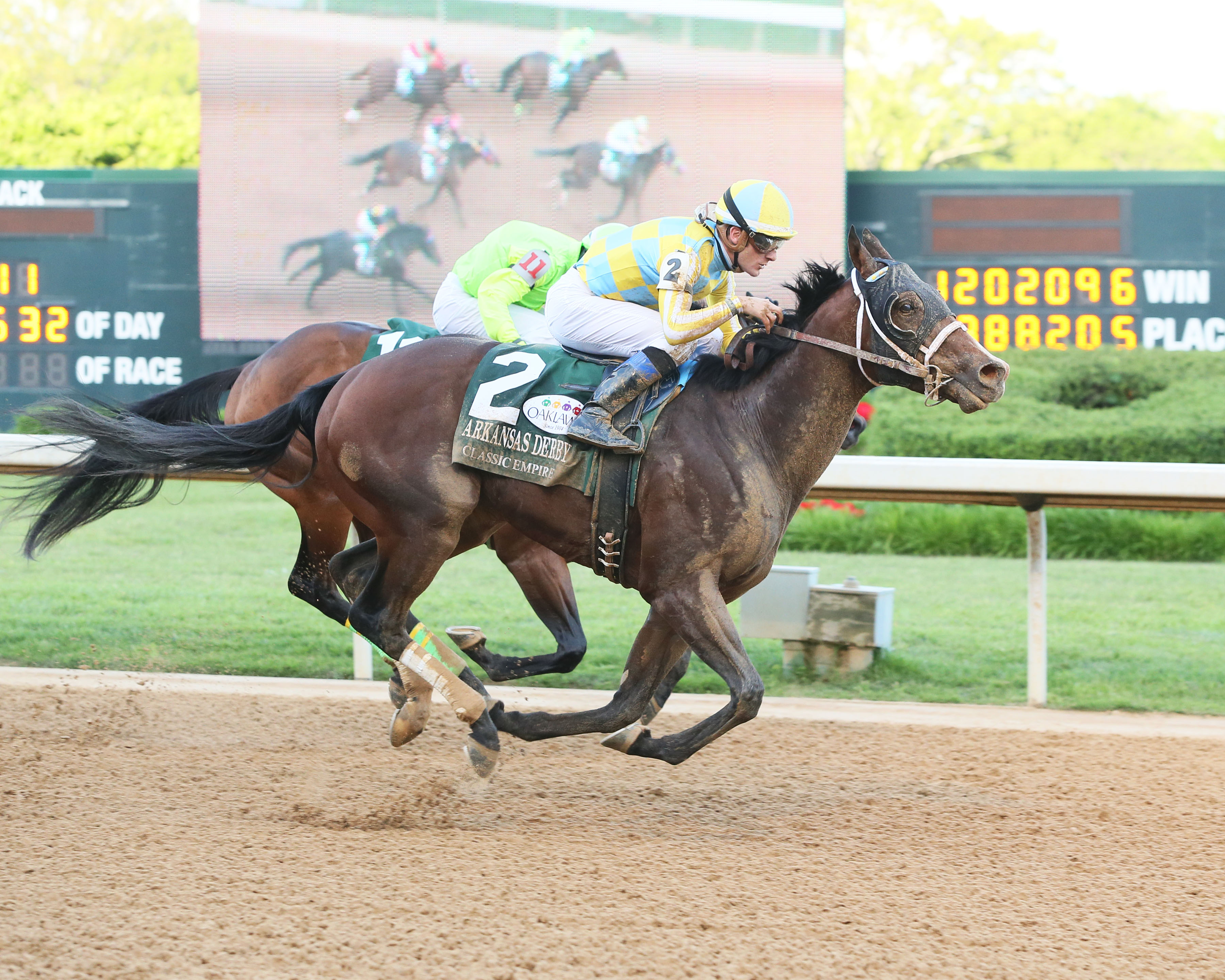 Arkansas Derby winner Classic Empire was named the morning line favorite for the Kentucky Derby. Photo Credit: Coady Photography