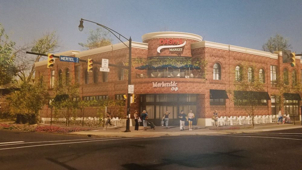A rendering of the proposed market was presented at Thursday night's meeting. (Harold McNeil/Buffalo News)