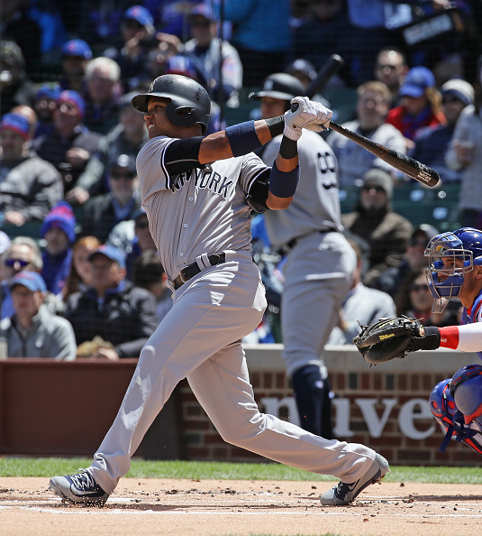 Red-hot Starlin Castro got big ovations when the Yankees played in Wrigley Field earlier this month (Getty Images).