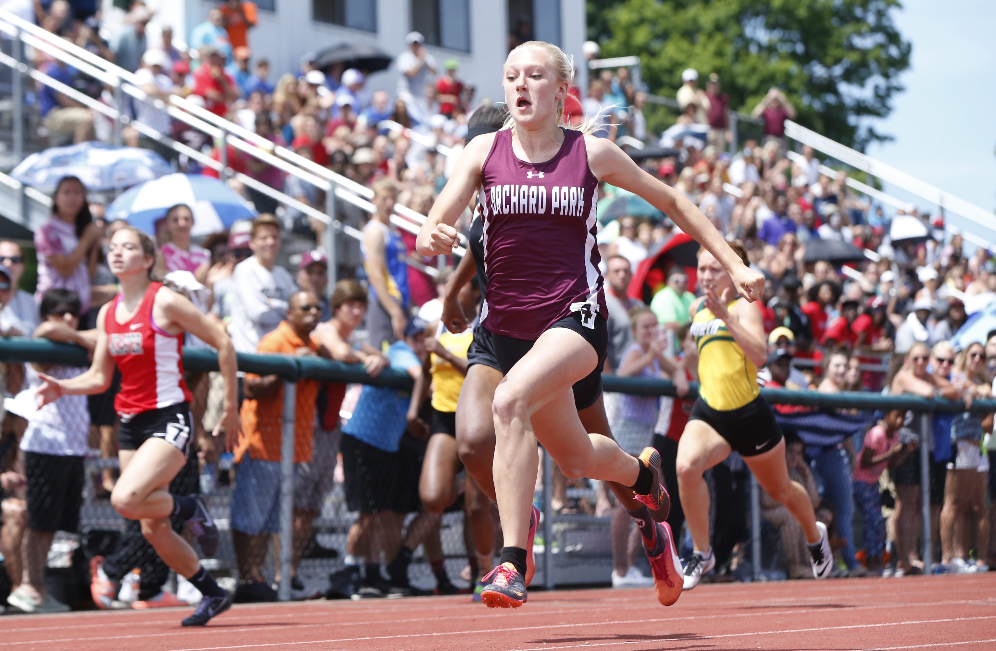 Jenna Crean of Orchard Park hopes to repeat her great performance in the Section VI championship this year. (Harry Scull Jr./Buffalo News)