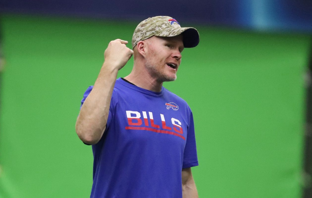 Bills coach Sean McDermott has much to prove in his first year on the job. (James P. McCoy/Buffalo News)