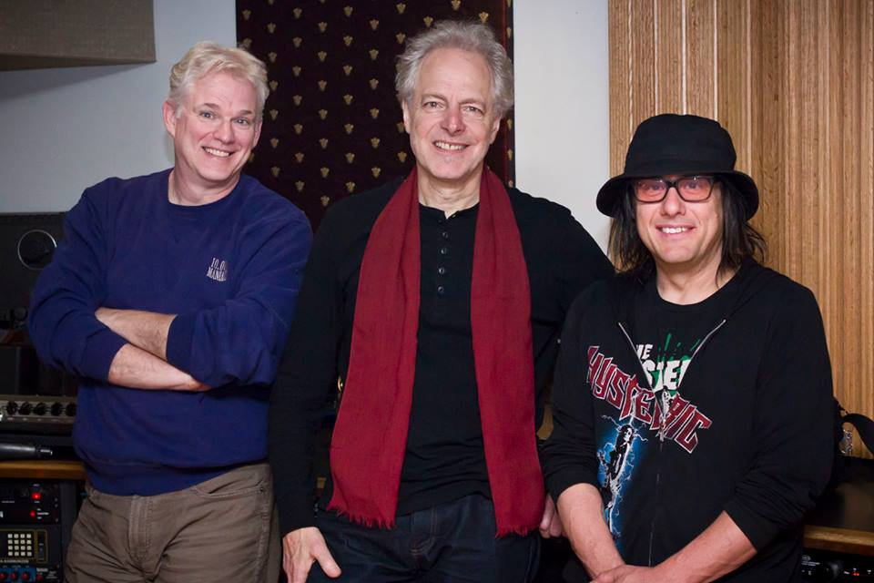 Armand  John Petri, left, Joe Rozler and Robby Takac collaborated on the theme song for 'Johnny Gruesome.'