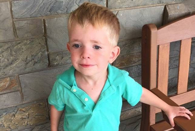 Ethan Ashcroft, age 3, on his first day of preschool. (Photo provided by family)