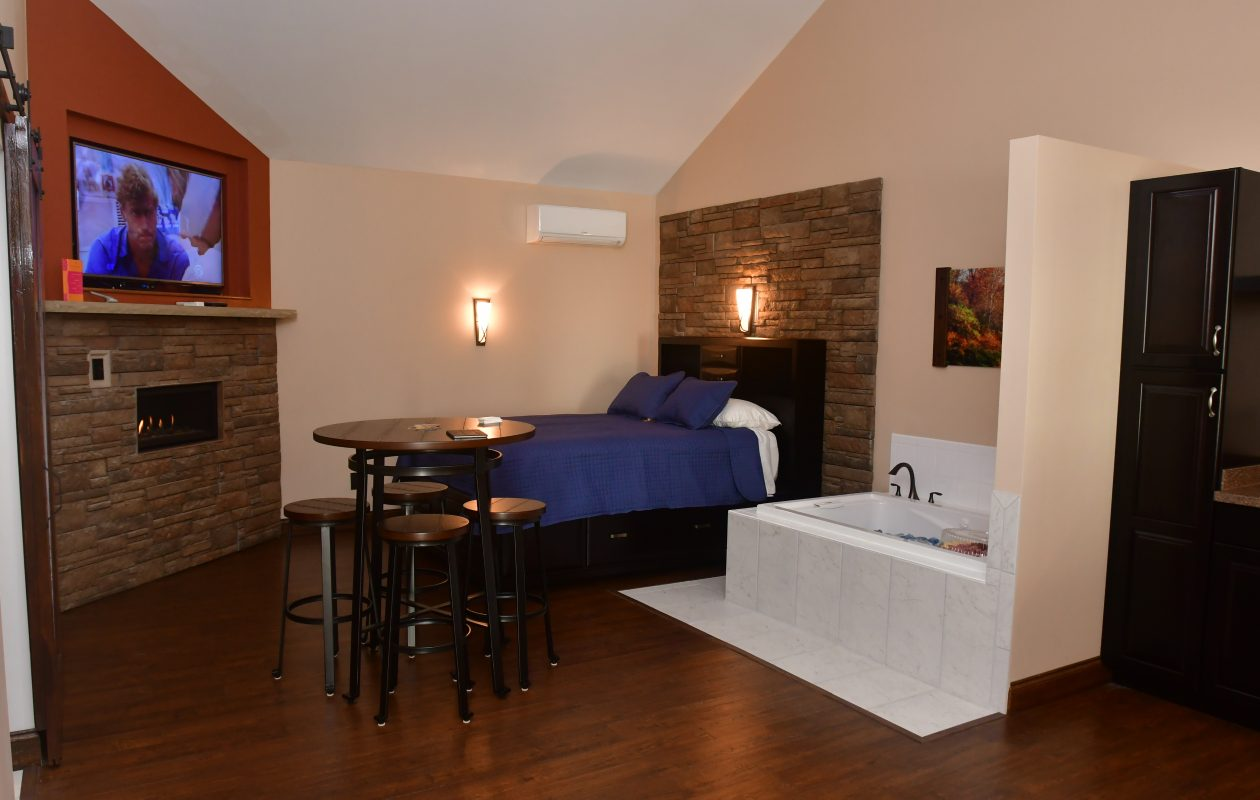 One of the three rooms at the Fields of Eden Inn. (Courtesy Carl Modica)