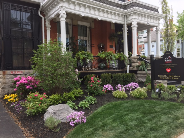Front gardens at new Russell J. Salvatore Hospitality House on Kevin Guest House campus. (Karen Robinson/Buffalo News)