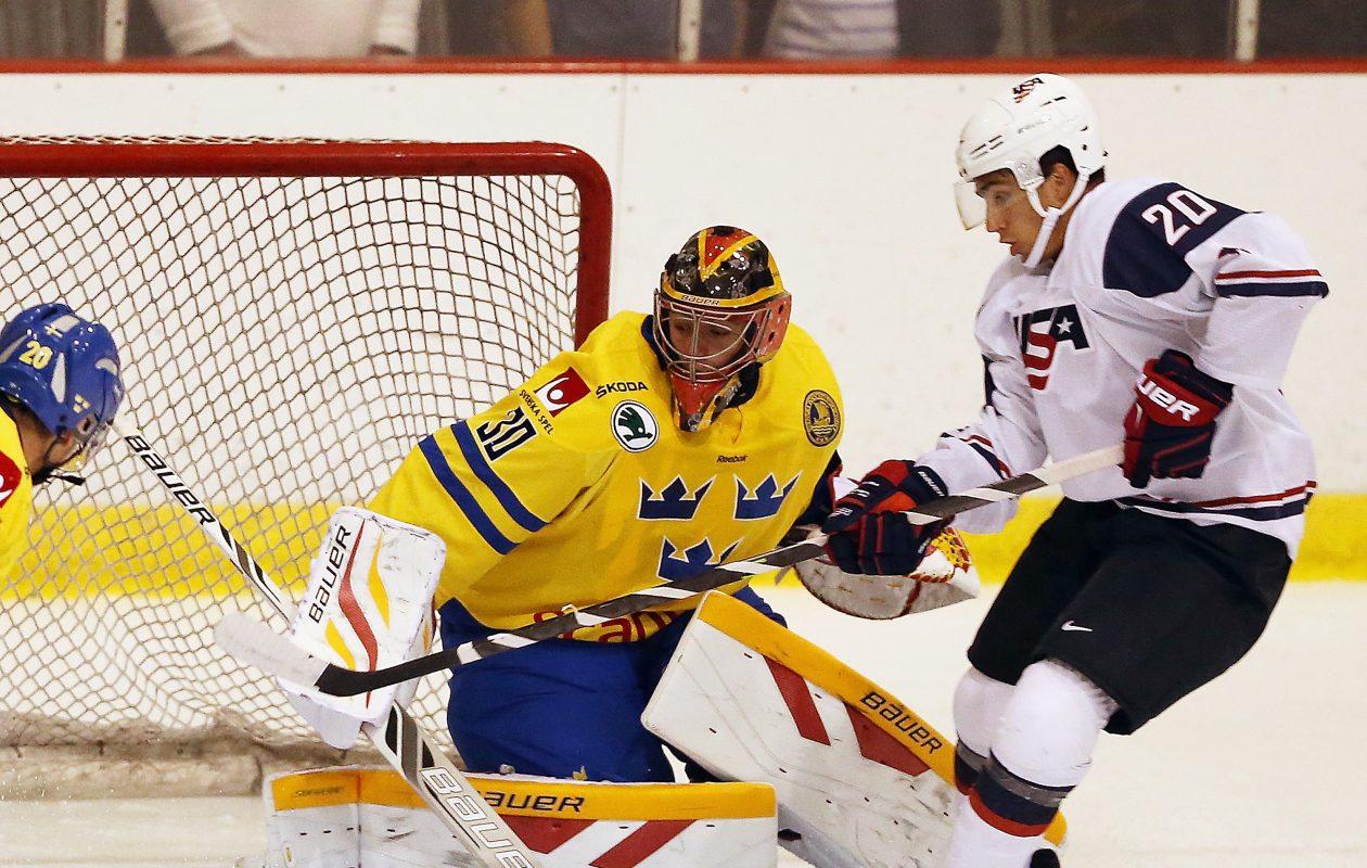 Swedish goalie Jonas Johansson went 3-3-1 with Rochester this season. (Getty Images)