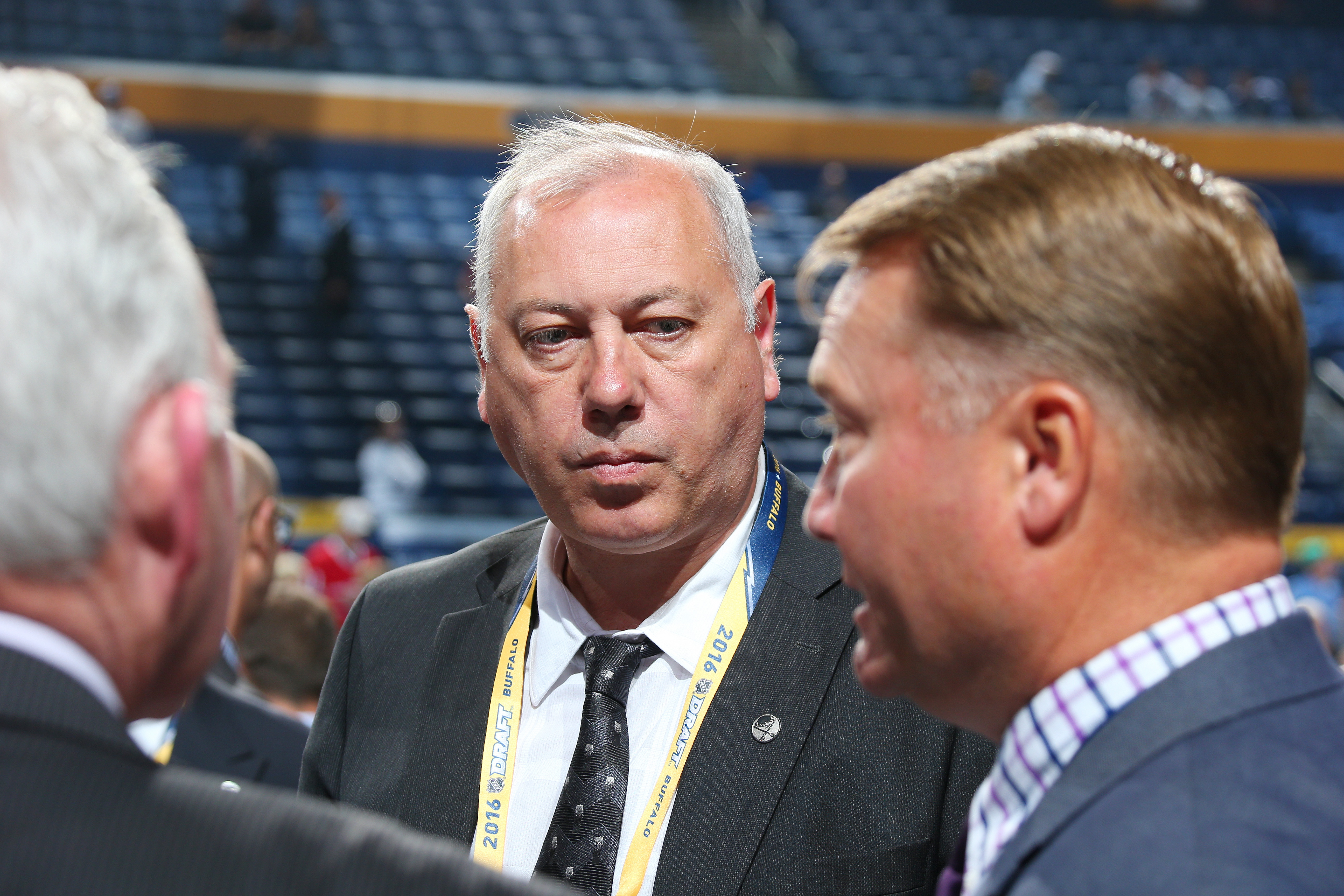 Yuri Khmylev is one of 13 members of the Sabres' scouting department who worked for the last two general managers.  (Getty Images)