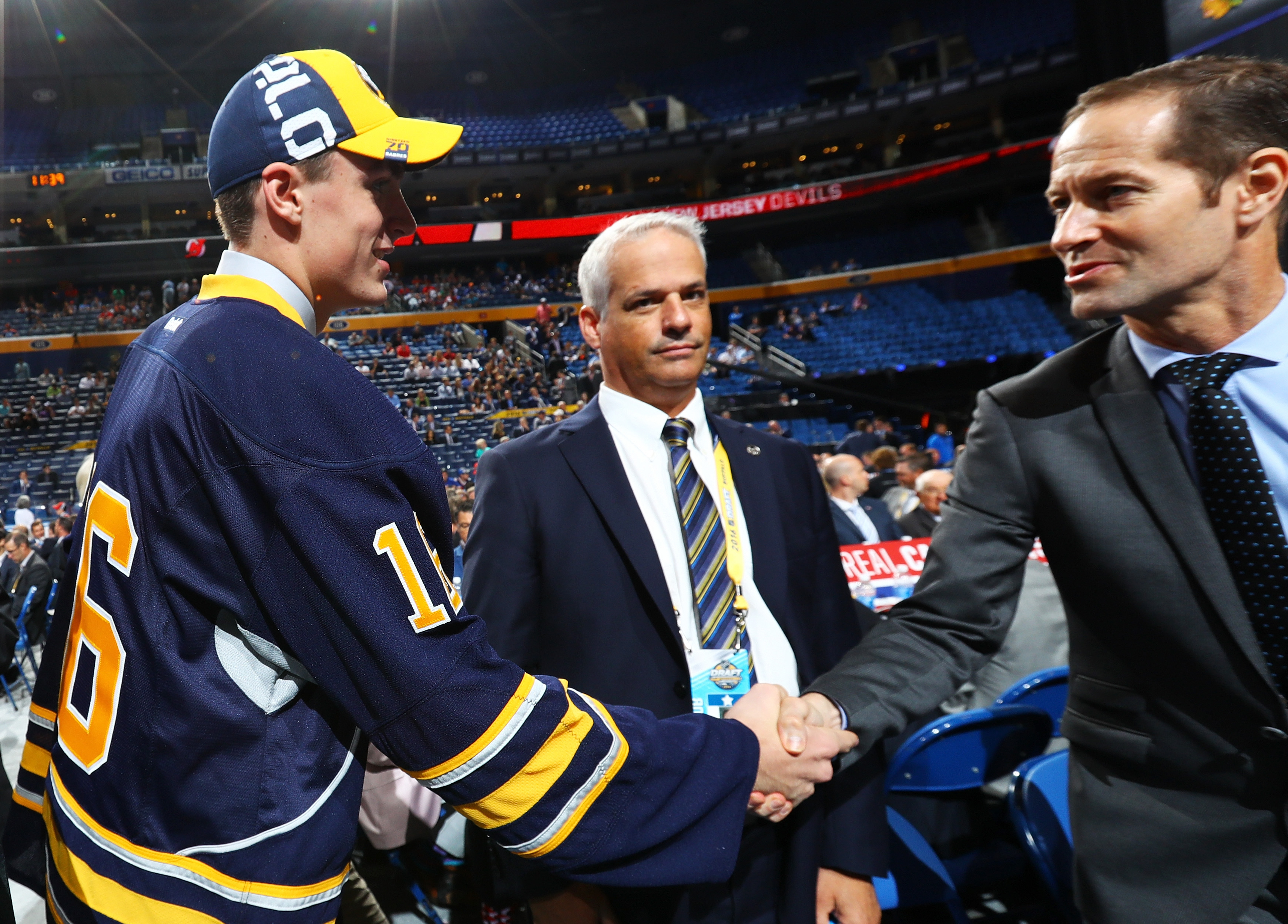 The Sabres need a new director of amateur scouting after letting go of Greg Royce, center. (Getty Images)