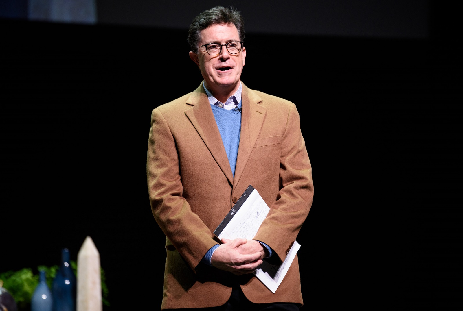 Stephen Colbert of 'The Late Show' did not apologize for his critical message of President Trump, although he did regret his word choice. (Getty Images)