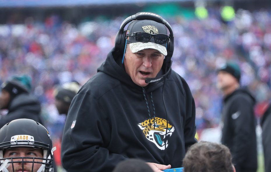 Jacksonville Jaguars coach Doug Marrone and his team face Tennessee this weekend. (Getty Images)