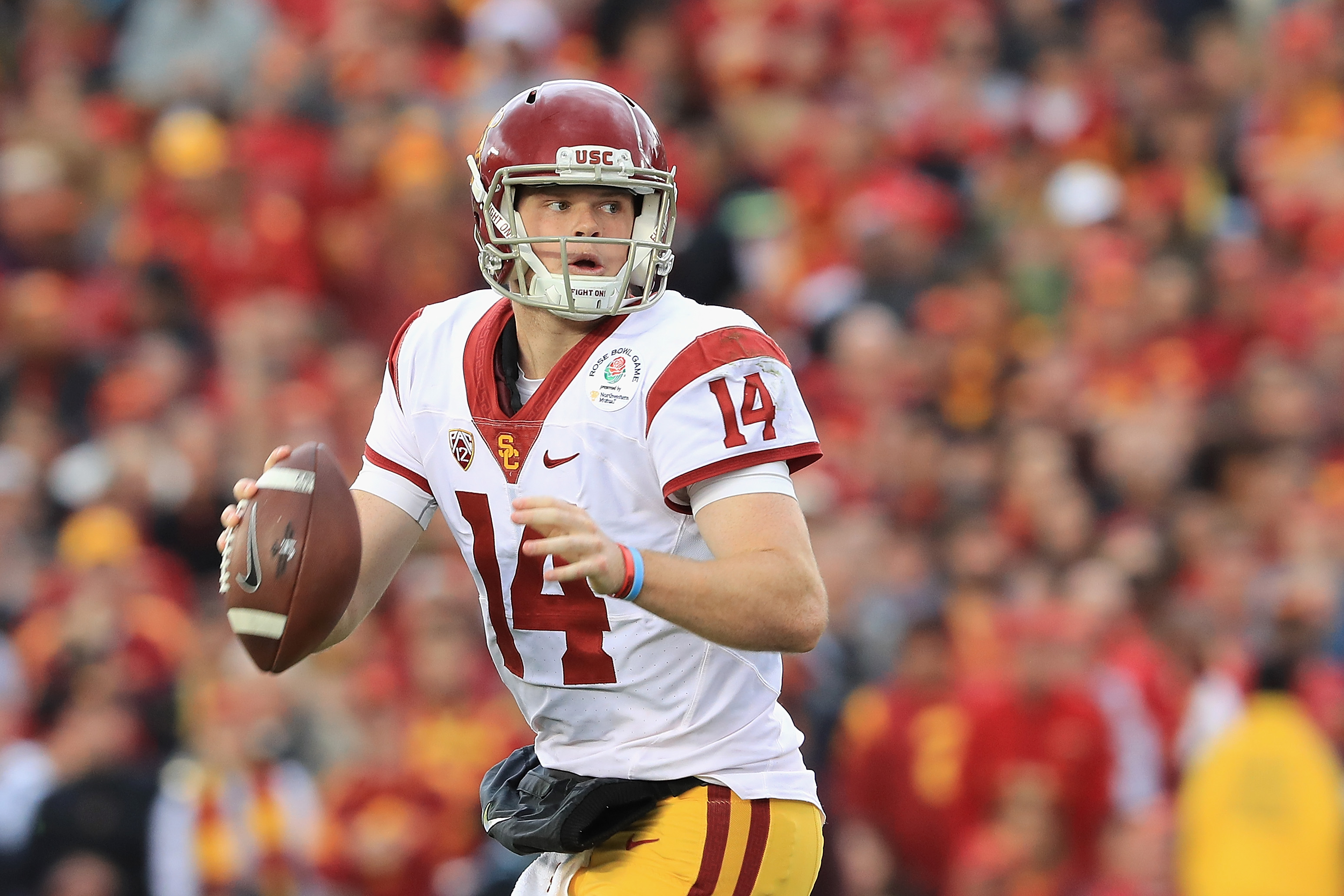 Southern California quarterback Sam Darnold is expected to be one of the top picks in the 2018 NFL Draft. (Getty Images)