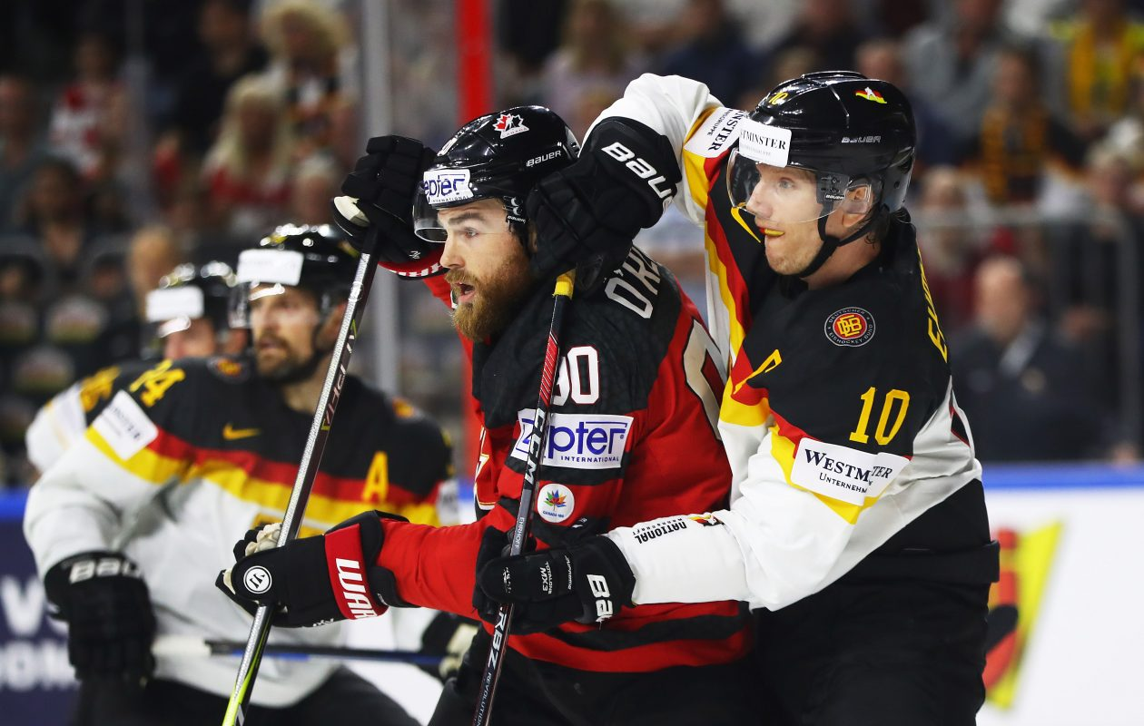 Canada and Ryan O'Reilly eliminated Germany and Christian Ehrhoff on Thursday. (Getty Images)