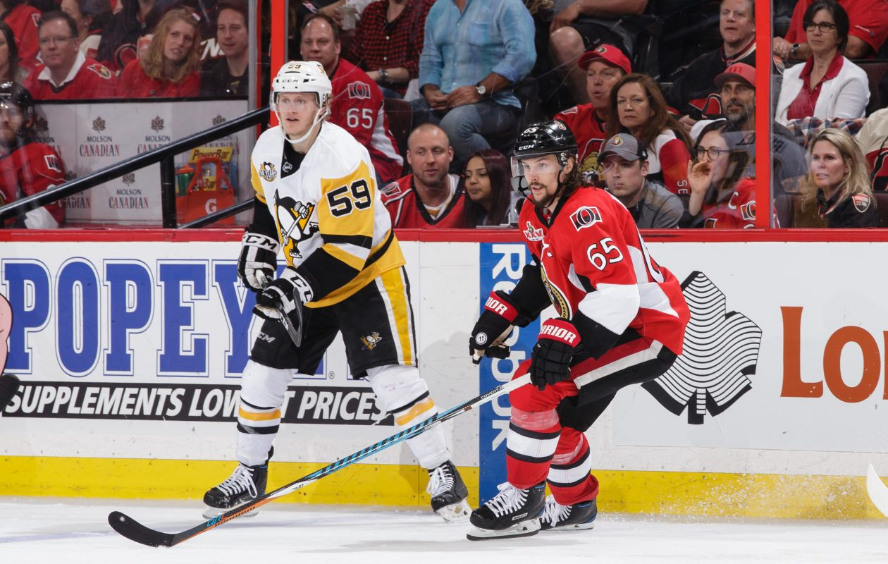 Pittsburgh Penguins forward Jake Guentzel played three seasons at the University of Nebraska-Omaha. (Getty Images)