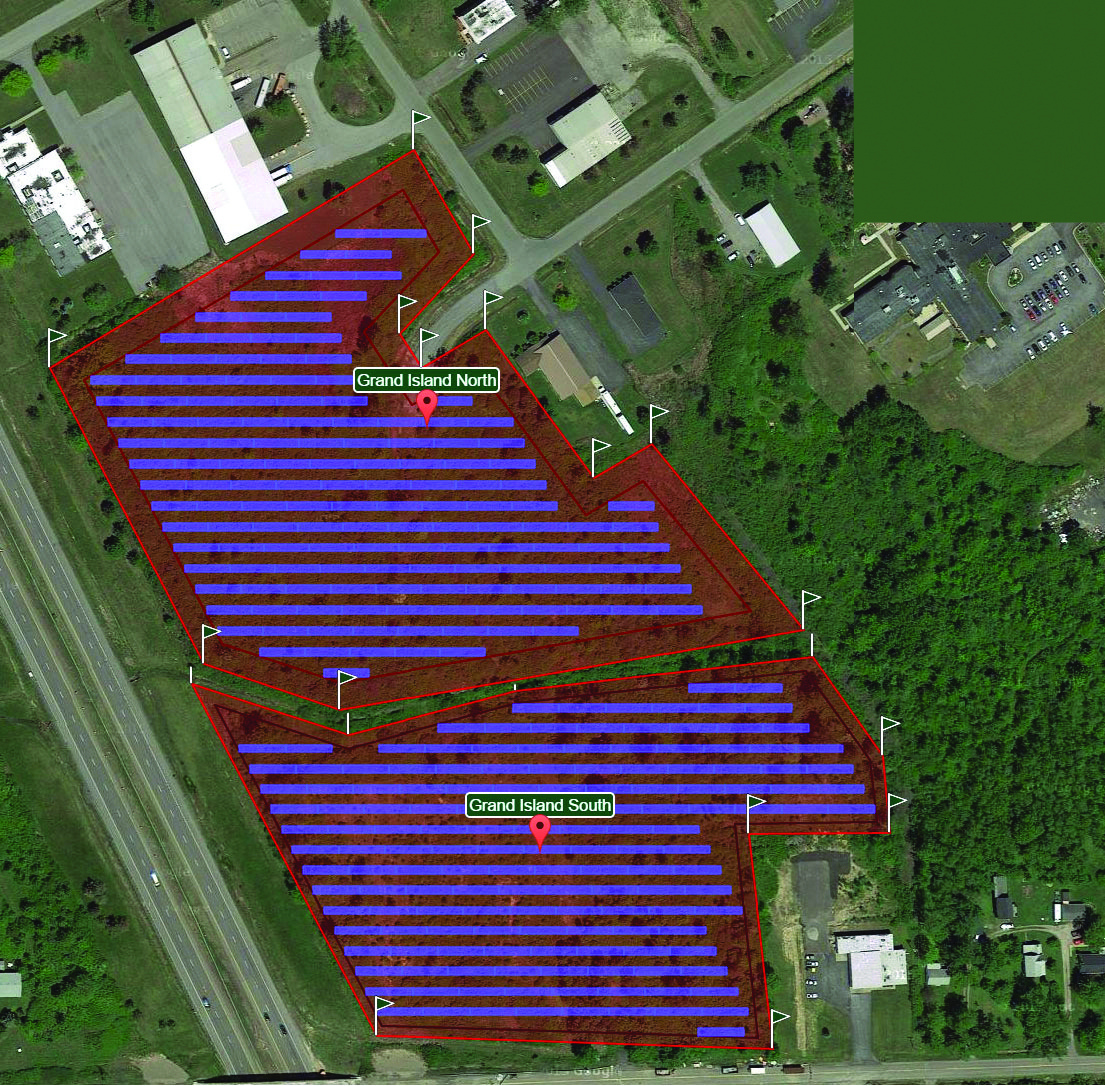Plans for Grand Island Solar Park on 18 acres of vacant land at Bedell Road and Industrial Drive.