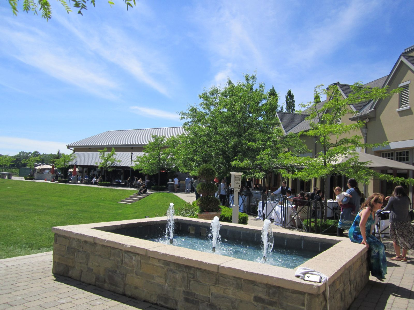 The back patio of Peller Estates hosts many summer events, including the Grill & Chill experience at the outdoor grill.