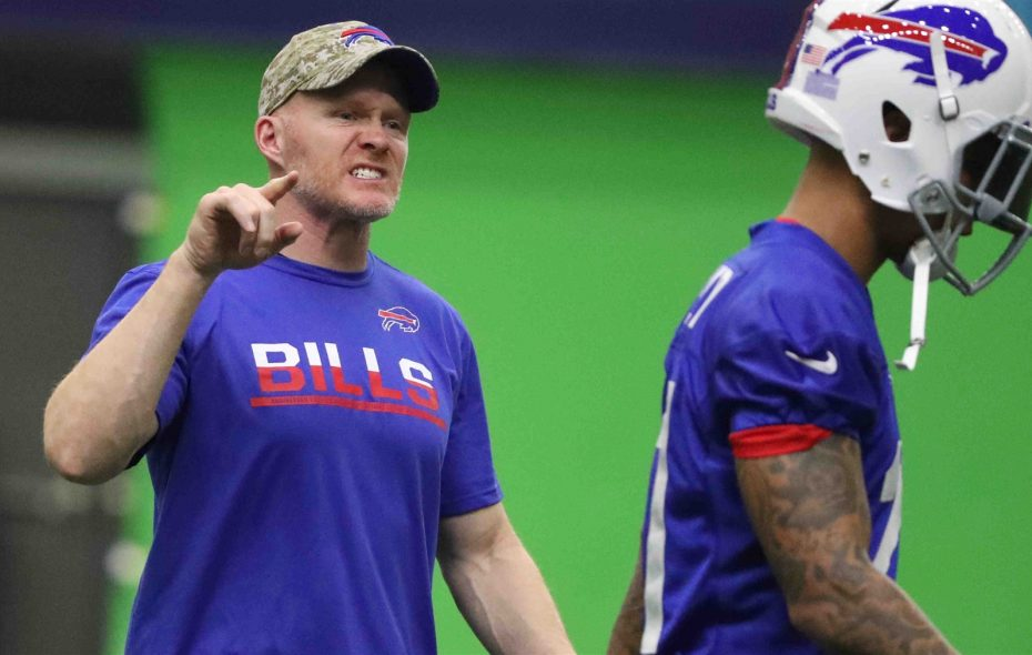 "Bills coach Sean McDermott wants to build an identity in Buffalo and turn New Era Field into a ""hostile"" environment for Bills' opponents (James P. McCoy/Buffalo News)"