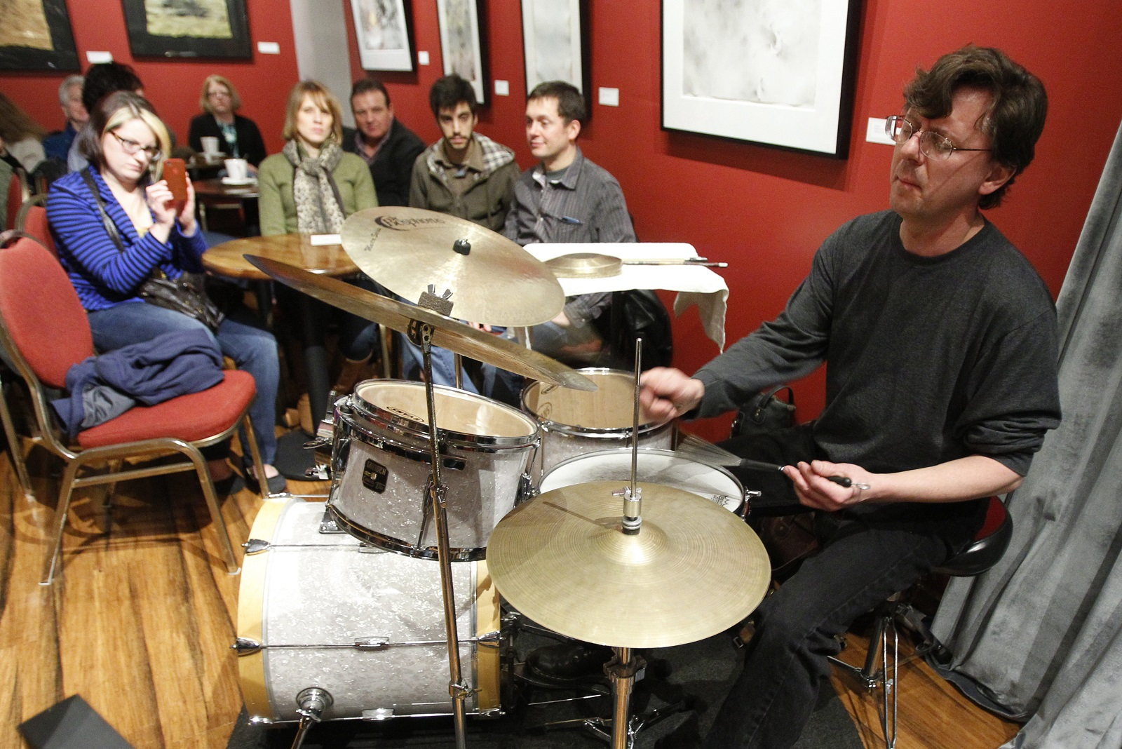 Drummer John Bacon will lead his own Ensemble through interpretations of Thelonious Monk tunes as part of this year's Nietzsche's Jazz Festival.  (Photo by Harry Scull, Jr.)