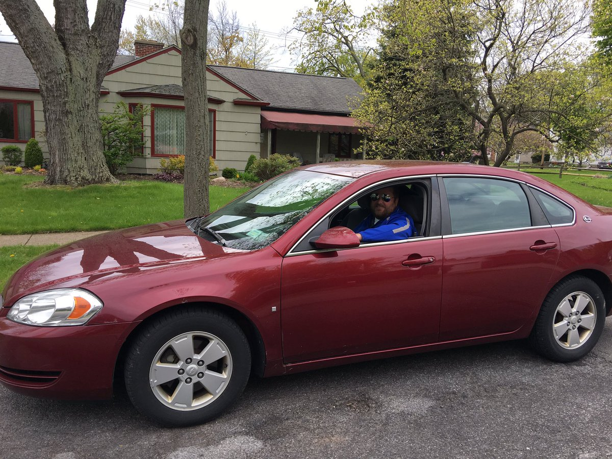 John Pawlowski parks in his usual spot on Zimmerman Boulevard in the Town of Tonawanda last week.