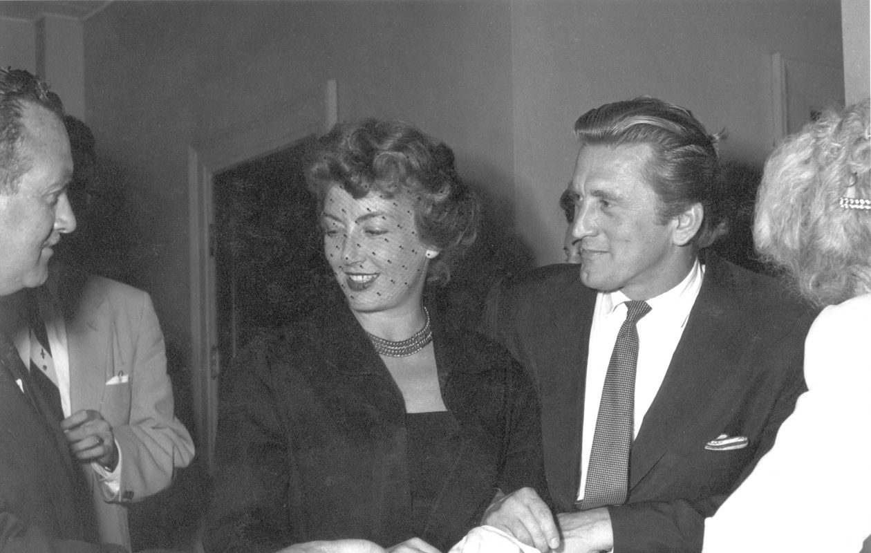Kirk and Anne Douglas on their wedding day in Los Vegas in 1954. (Photo courtesy Douglas Collection)