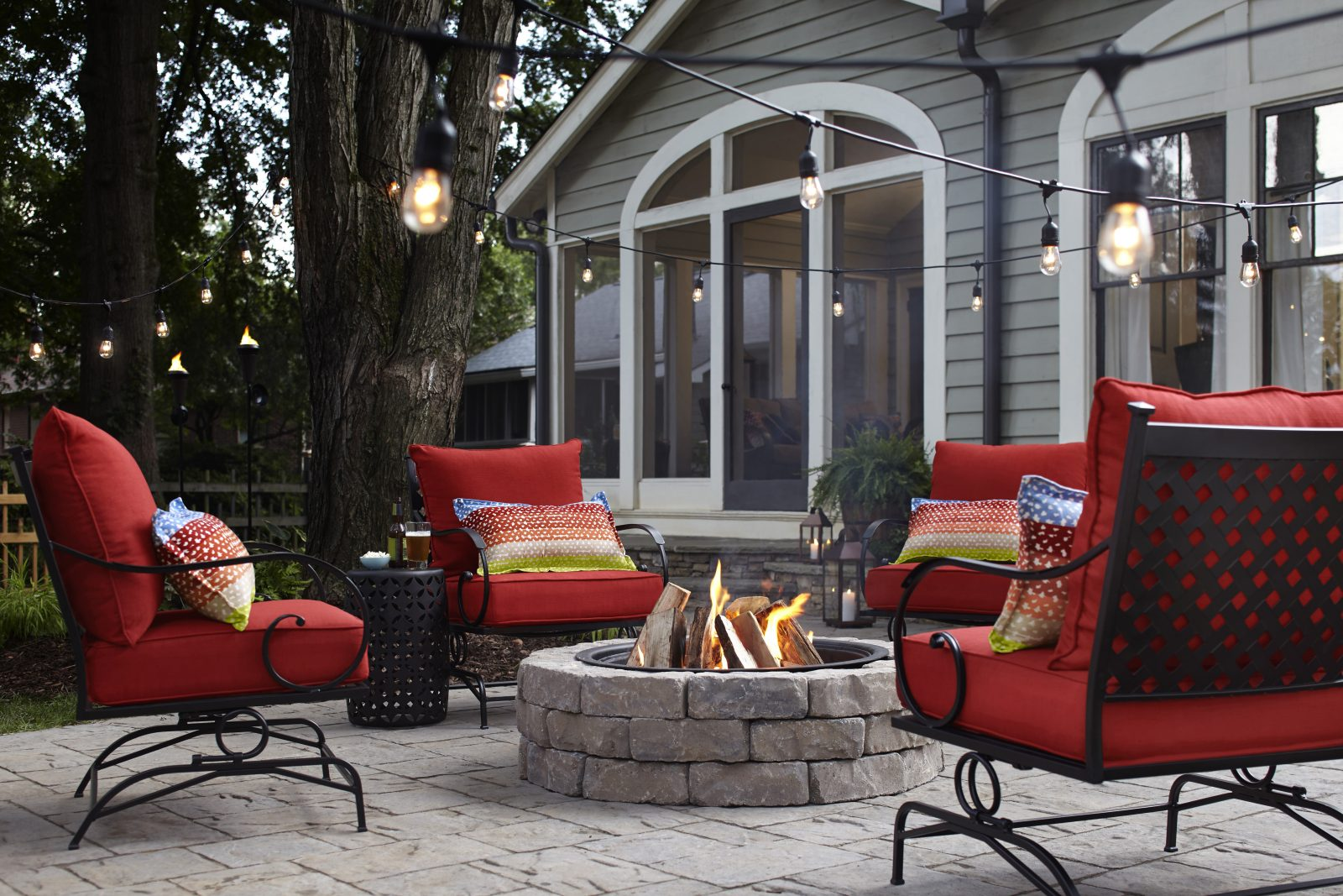 For entertaining or just spending time with the family, create an outdoor space that is comfortable and attractive. (Photo courtesy Lowe's)
