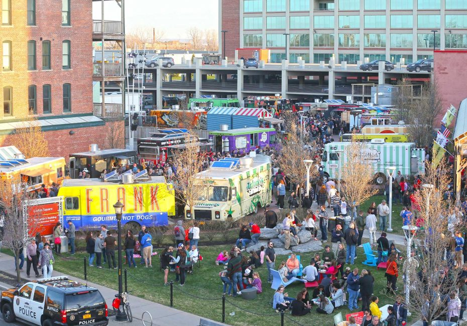 Food Truck Tuesdays at Larkinville   7 ways to dine alfresco   Discover