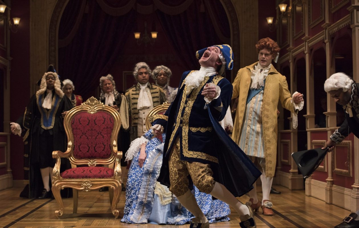 Tom McCamus plays the title role in the Shaw Festival's production of 'The Madness of George III.' Photo by David Cooper.