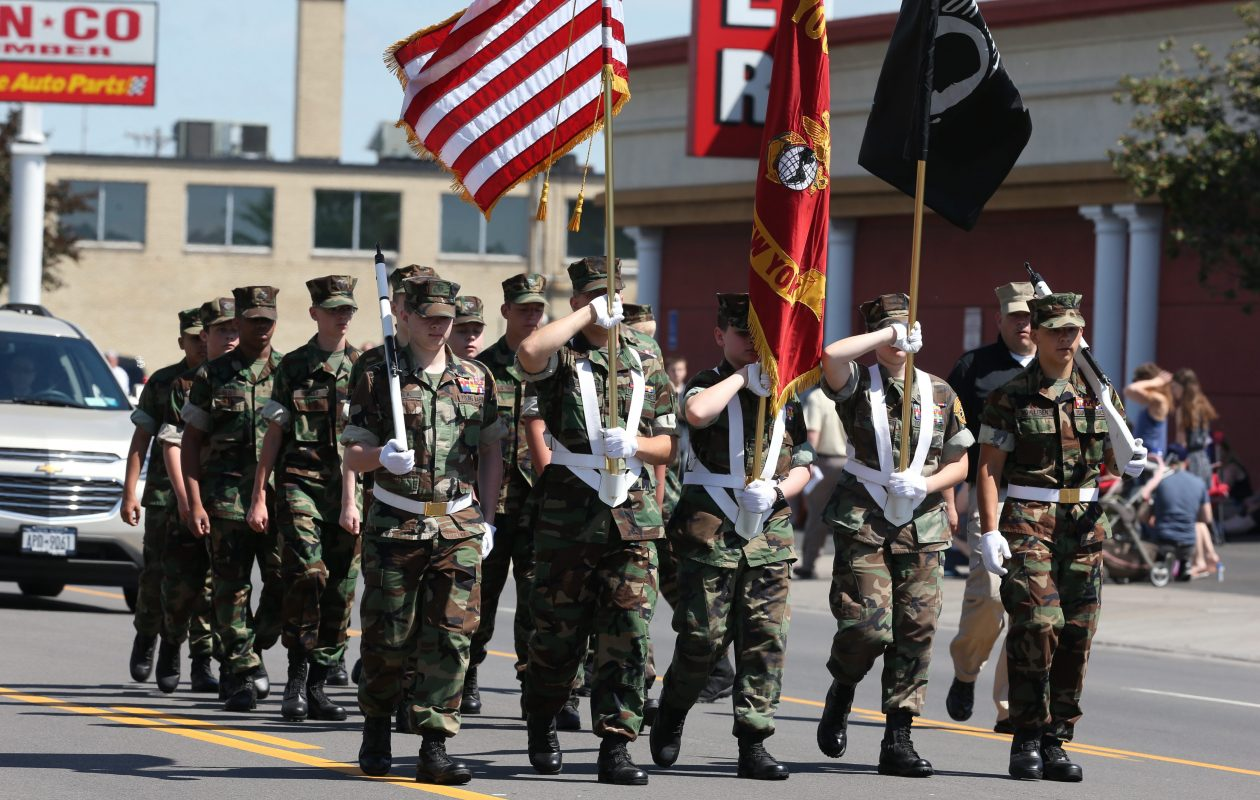 Marchers in the Kenmore-Town of Tonawanda  Memorial Day parade in Kenmore, N.Y., on Monday,May 30, 2016.  (James P. McCoy/ Buffalo News)