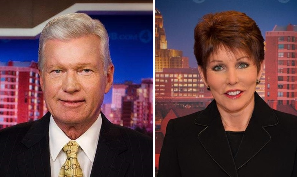 WIVB Channel 4, led by anchors Don Postles, left, and Jacquie Walker, as well as Nalina Shapiro, are surging heading into the May sweeps. (Photos via WIVB)