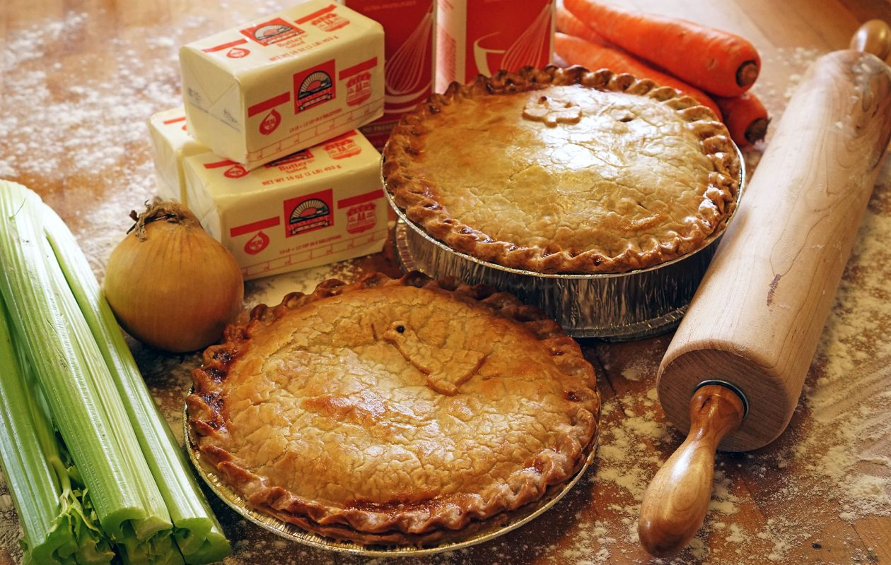 At McDuffie's Bakery, stock up on homemade chicken pot pies after grabbing a bite to eat in the café.