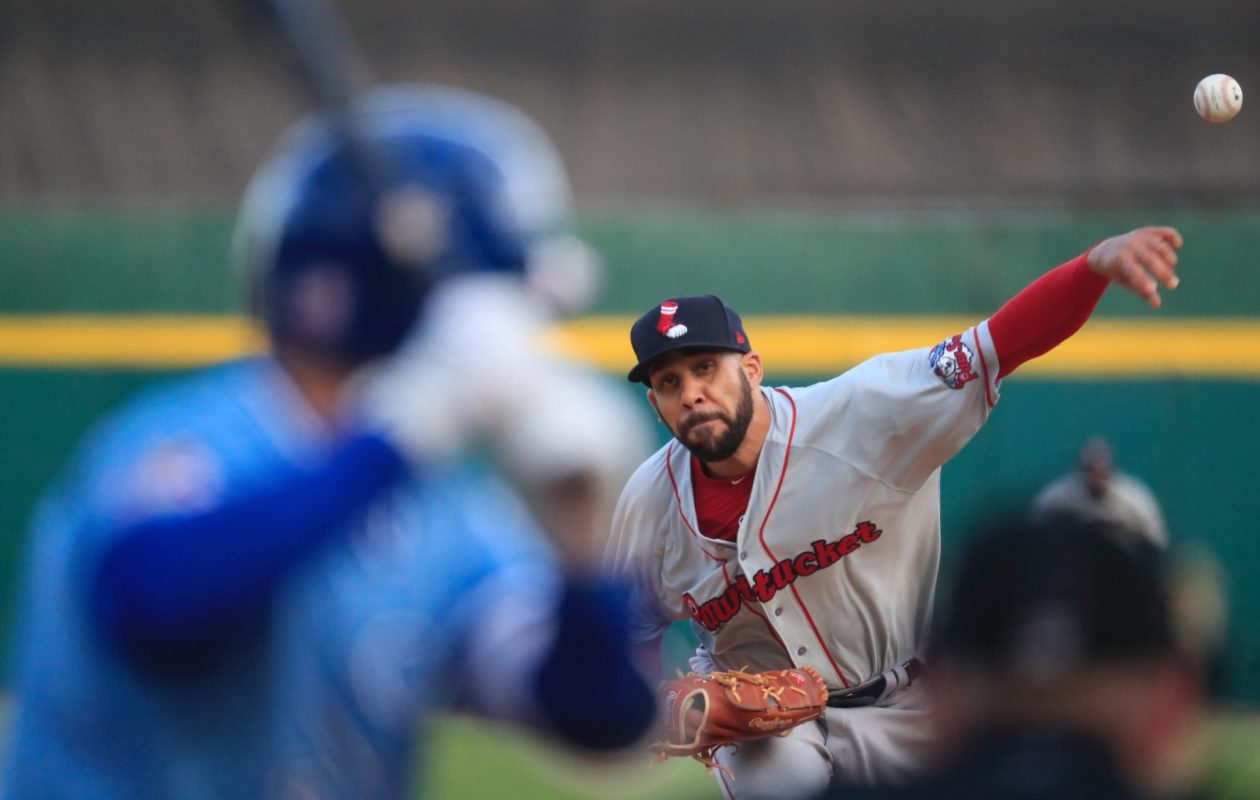 David Price works against the Bisons Friday night (Harry Scull Jr../Buffalo News)