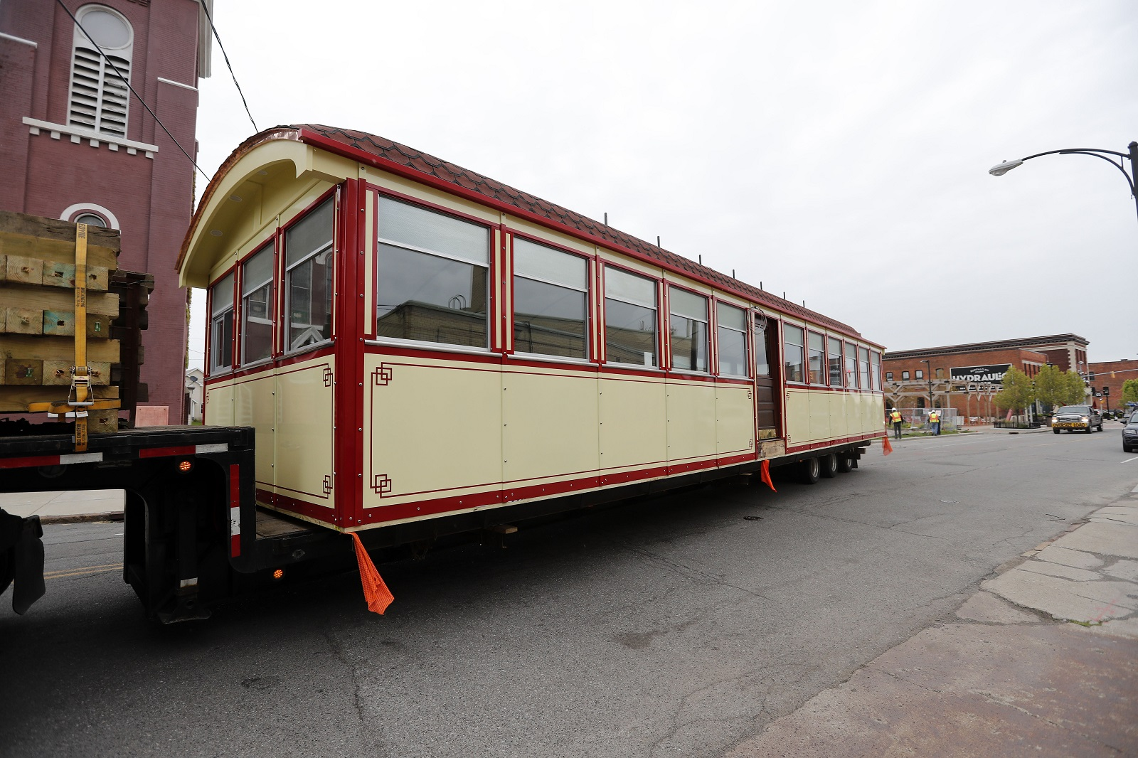 The new Swan Street Diner waits to be put in its place in Larkinville. (Mark Mulville/Buffalo News)