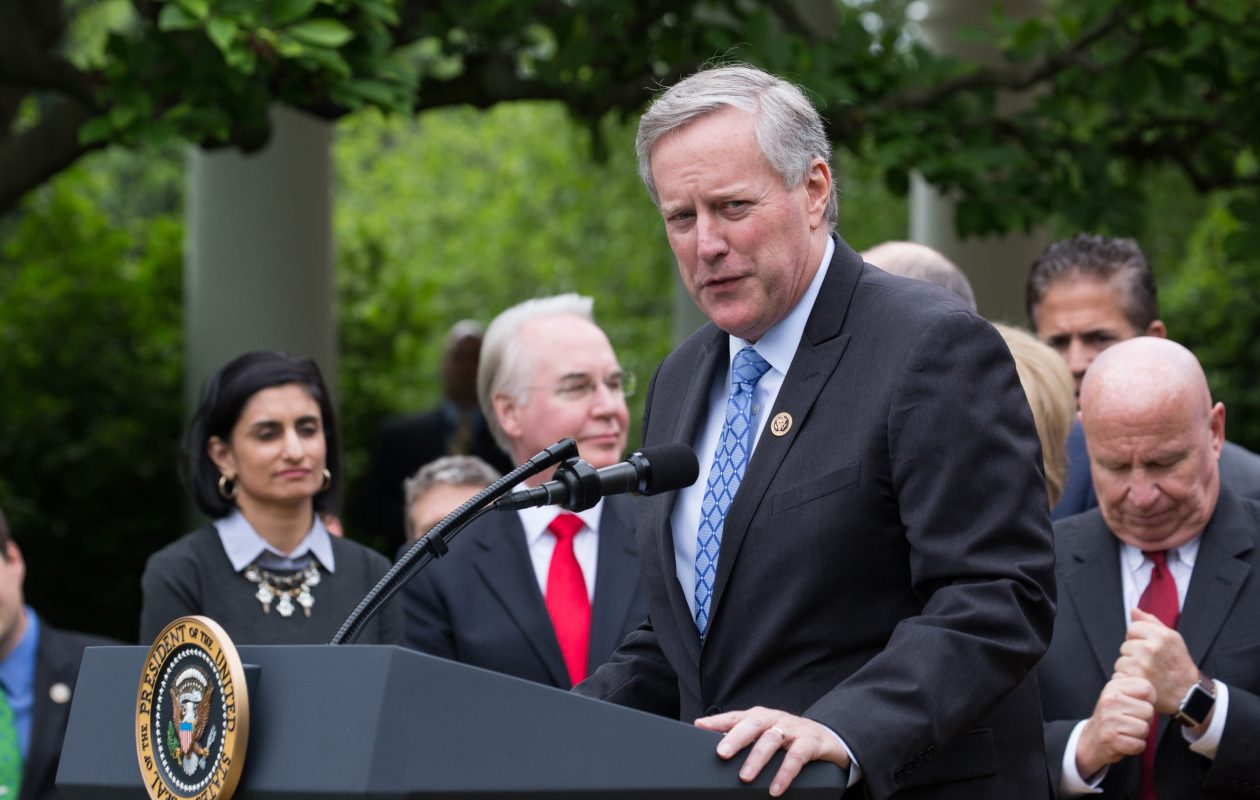 """""""It probably is the most conservative budget that we've had under Republican or Democrat administrations in decades,"""" said Rep. Mark Meadows, R-N.C., the chairman of the conservative House Freedom Caucus. (Cheriss May/Sipa USA/TNS)"""