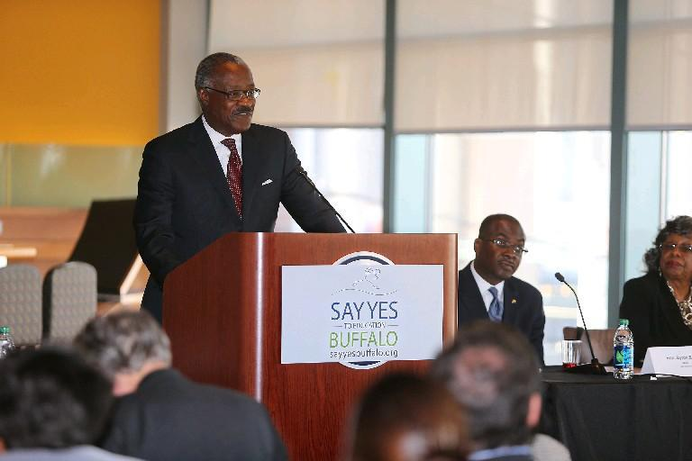Say Yes Board Chairman Alphonso O'Neill-White says the organization must figure out how the state's Excelsior Scholarship will impact on its own aid to Buffalo students.  (News file photo)