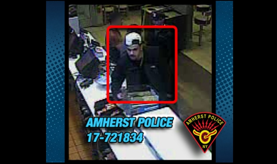 Investigators said this man assaulted a person at a restaurant on Sheridan Drive. (Amherst Police)