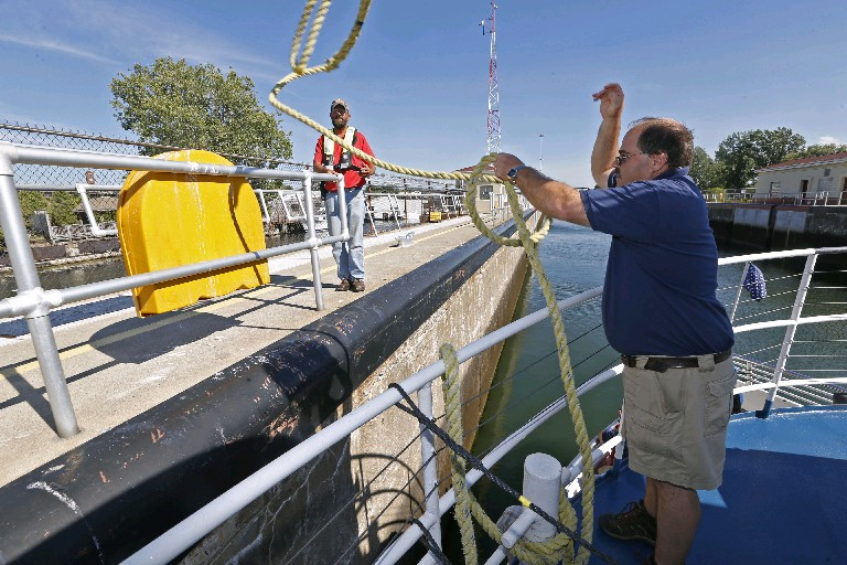 Repairs at the Black Rock lock are complete, the U.S. Army Corps of Engineers reports. (Robert Kirkham/Buffalo News)