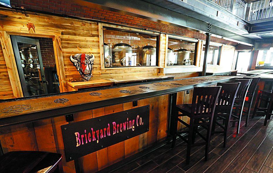 The taproom bar at Brickyard Brewing in Lewston. (Mark Mulville/Buffalo News)