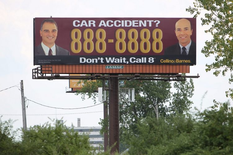 A Cellino & Barnes billboard is visible from Route 5 in Buffalo heading south in August 2012.  (Sharon Cantillon/News file photo)