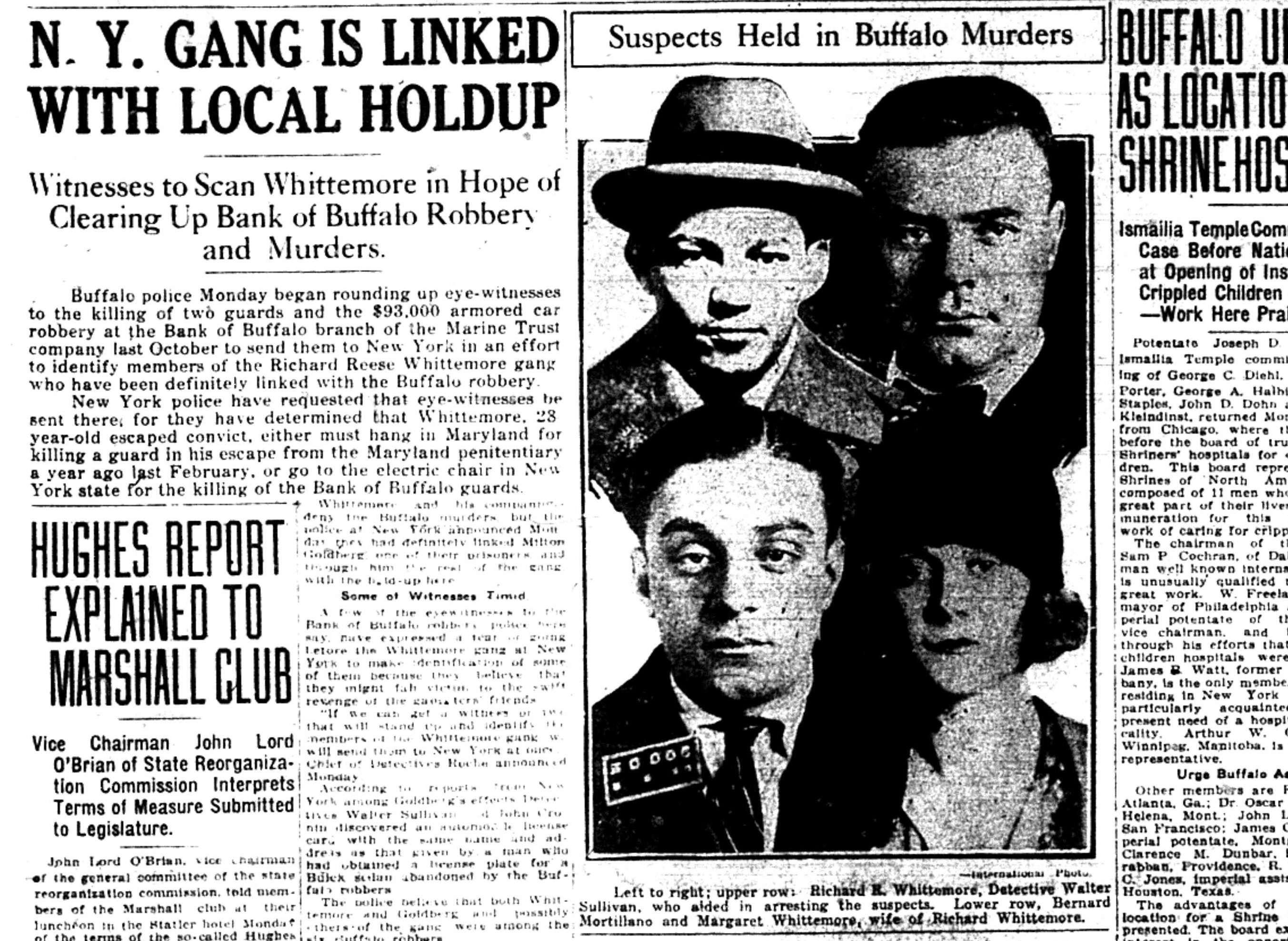 The arrest of Richard 'Candy Kid' Whittemore and his wife, Margaret 'Tiger Girl' Whittemore, made the front page of the March 22, 1926.