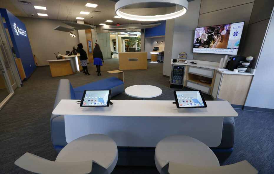 Five Star Bank opened its first downtown branch last year. (Mark Mulville/Buffalo News)