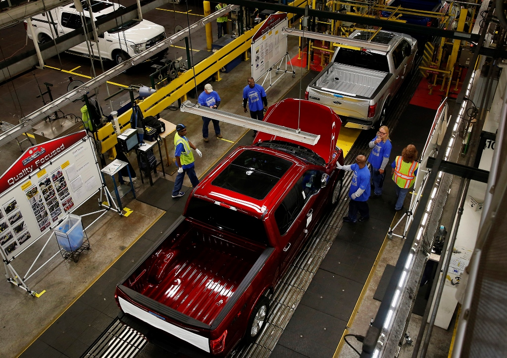 Ford had already announced the layoffs of 130 factory workers in Ohio for the summer due to slowing sales of big trucks before word came of plans to cut 10 percent of its salaried staff in its North America and Asia Pacific operations. (Bloomberg News)