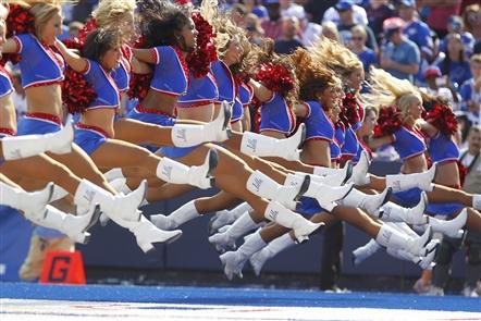 Decades of Buffalo Jills cheerleaders