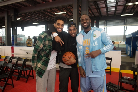Smiles at Ballin for a Cause at RiverWorks