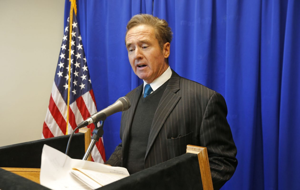 """""""There needs to be a general commitment to find the resources necessary to grow the economy,"""" Rep. Brian Higgins said. (Robert Kirkham/Buffalo News)"""