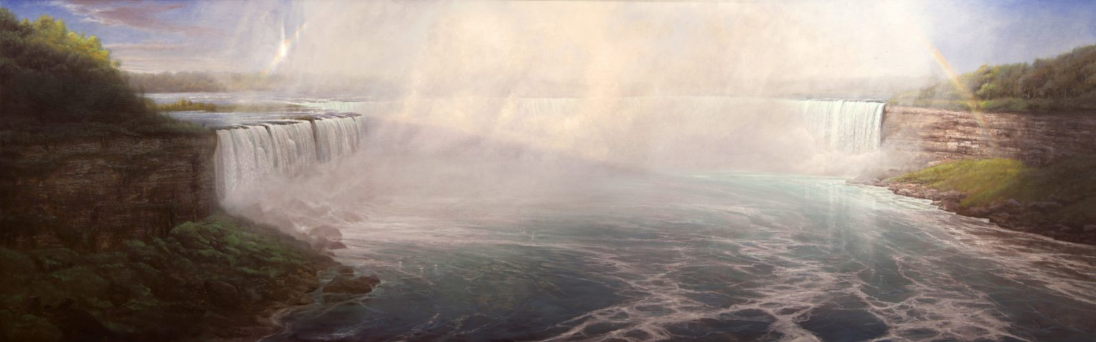 "Thomas Kegler's painting ""Niagara, Psalms 84:11"" is on view in Niagara University's Castellani Art Museum."