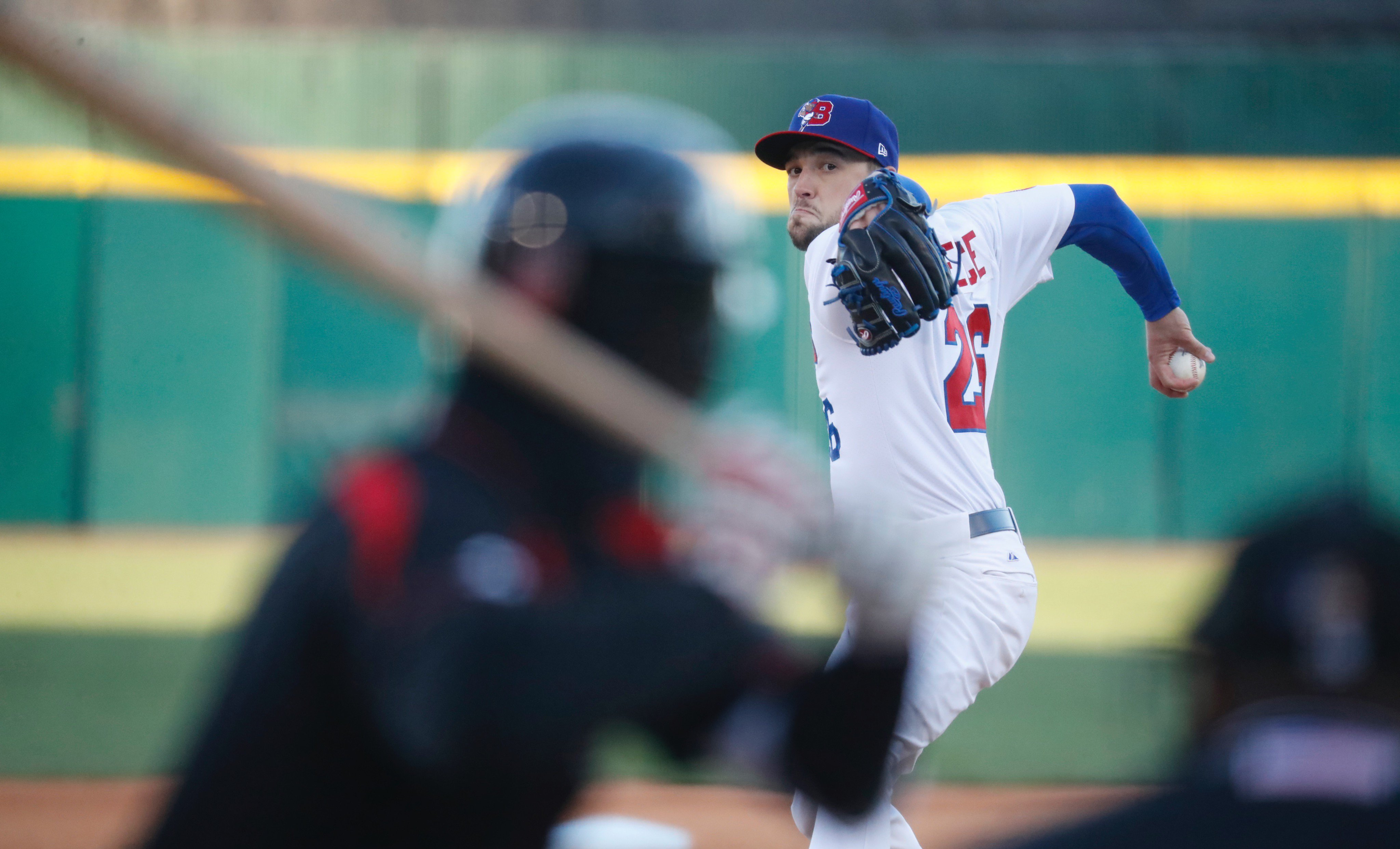 Bisons starter Casey Lawrence threw five innings in a 4-1 win over Rochester. (Harry Scull Jr./Buffalo News)