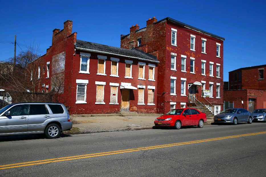 Developer Rocco Termini's plan to buy these antebellum-era Sycamore Street buildings could eliminate a demolition threat and preserve part of Buffalo's African-American history. (John Hickey/News file photo)