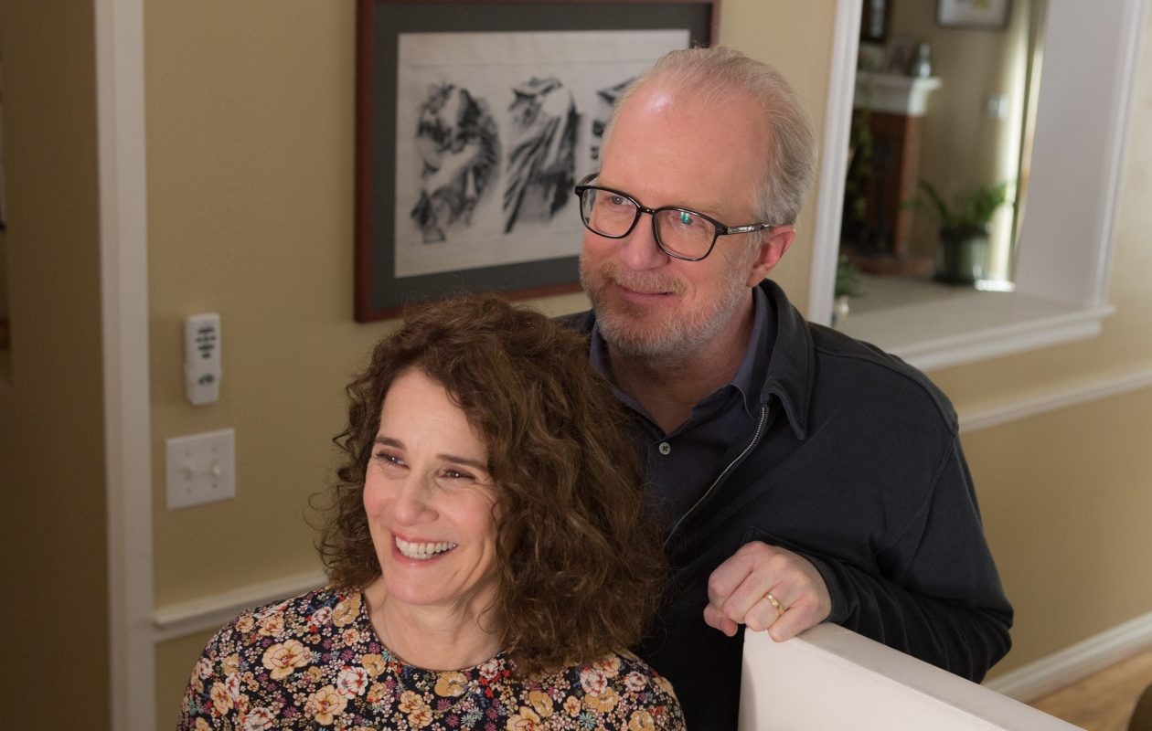 Debra Winger and Tracy Letts play a husband and wife who rediscover each other in 'The Lovers.' (Robb Rosenfeld/A24)