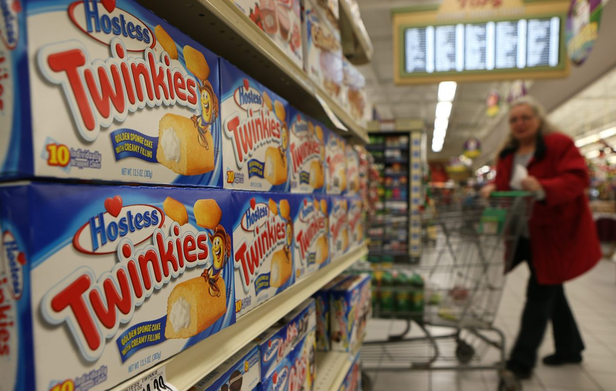 A shopper passes by a Hostess display at the Tops Market in West Seneca in 2012.  (News file photo)