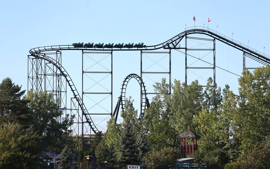 Darien Lake's oldest roller coaster, the Viper, turns 35 this year. (Sharon Cantillon/Buffalo News file photo)