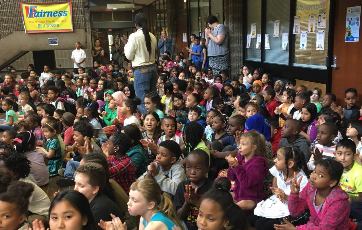 Hundreds of Waterfront Elementary students attend rally for kick off of 16th Annual Summer Reading Challenge